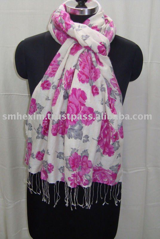 Floral prints, hand printed shawls and scarfs for summer