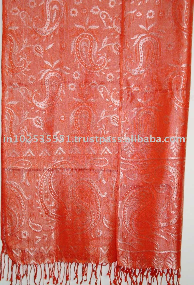 Silky Viscose jaquard shawls and scarves